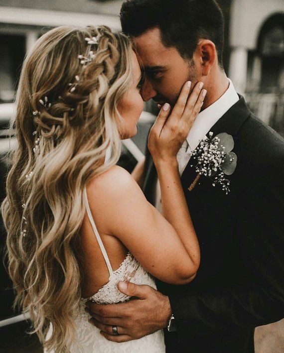 Crystal and Pearl hair vine Extra Long Hair Vine Bridal Hair Vine Wedding Hair V…