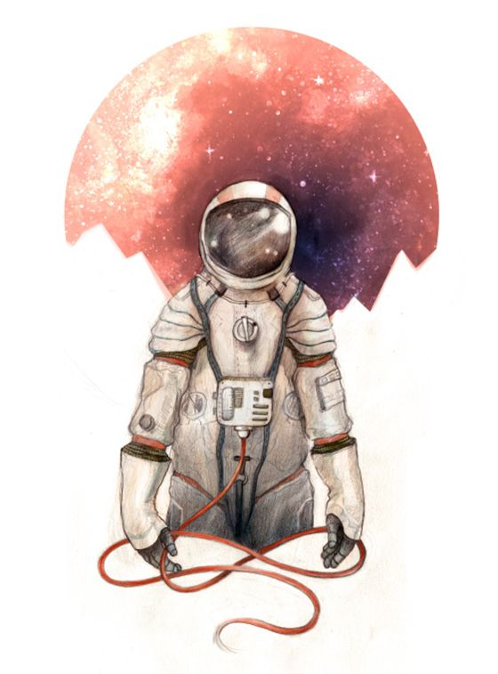 astronaut in space painting - photo #40