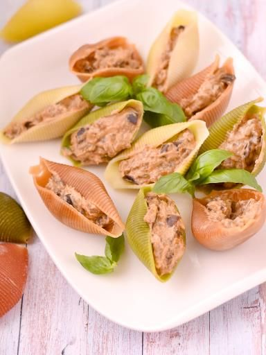 Conchiglies aux aubergines - Recette de cuisine Marmiton : une recette