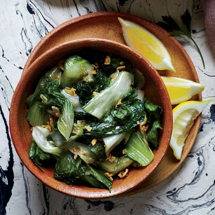 Wilted Escarole with Lemon and Garlic | MyRecipes