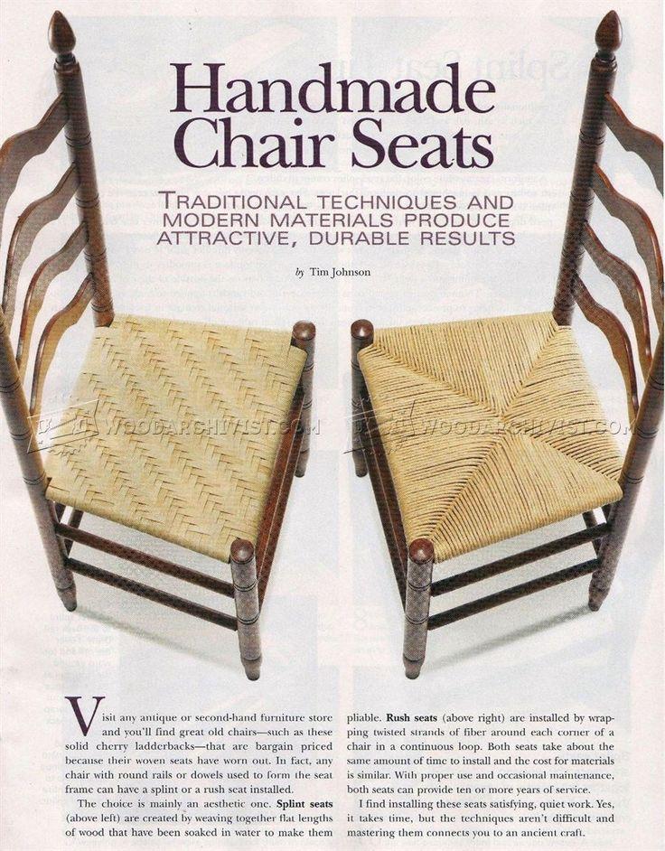 Handmade Splint And Rush Seat