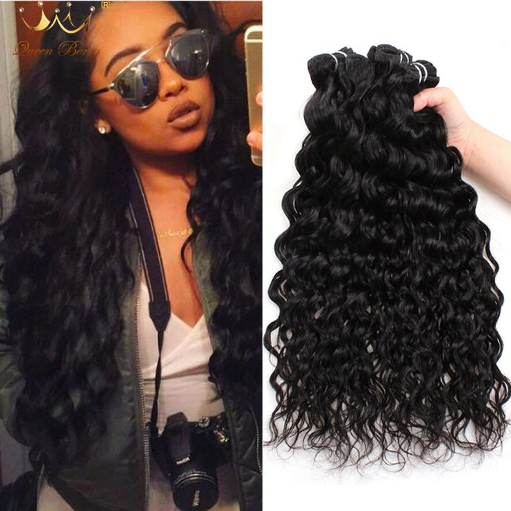 Indian Virgin Hair Water Wave Queen Berry Unprocessed Wet and Wavy Virgin Indian Human Hair Weave 4 Bundles Ocean Wave