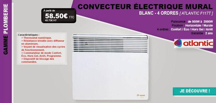 #froid #chauffage #convecteur #radiateur #mural #électrique #mural #Atlantic #gel #F117T #thermostat #température #chauffer #maison #habitat #lesfournituresdubatiment #LFDB #gamme