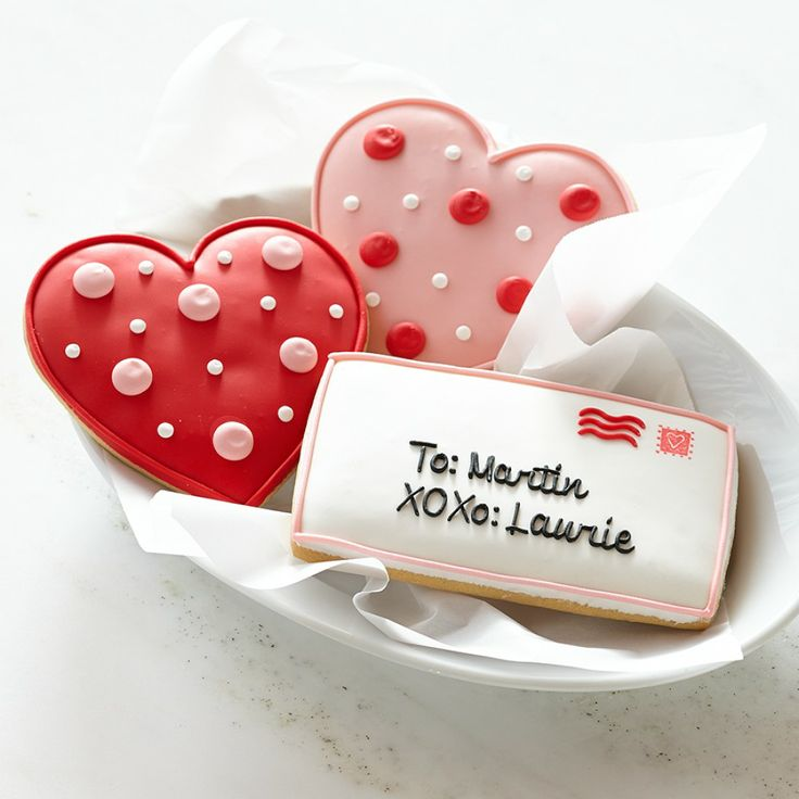 personalized valentines day cookies!