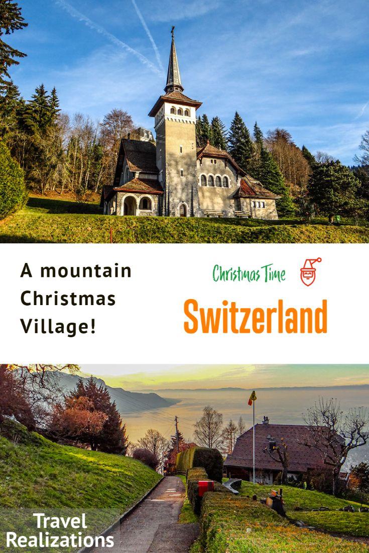A mountain Christmas Village in Caux, Switzerland! in 2020