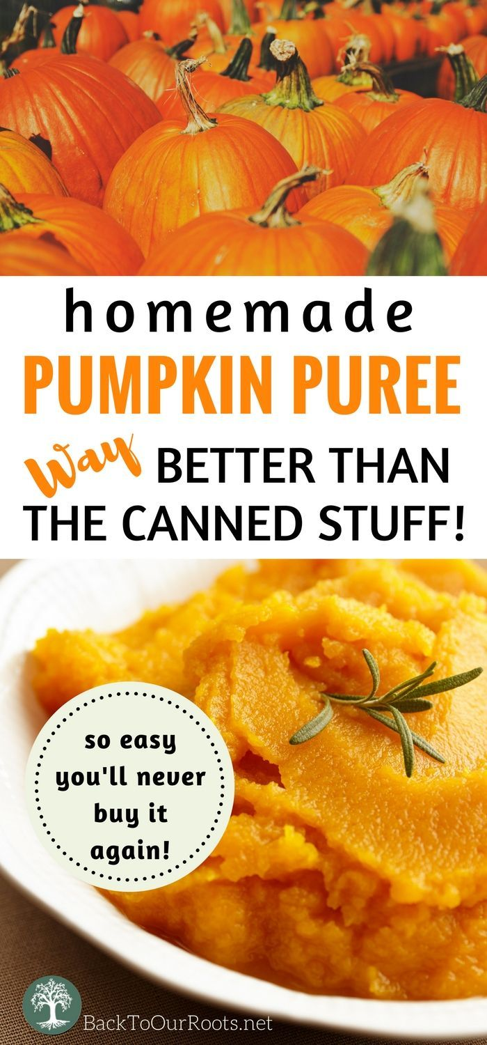 Making your own Pumpkin Puree is so easy, you'll never buy it again!
