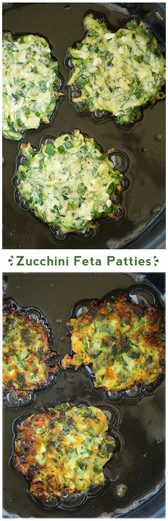Zucchini Patties with Feta - these are so delicious! Love them hot out of the skillet while they are crisp. So good!