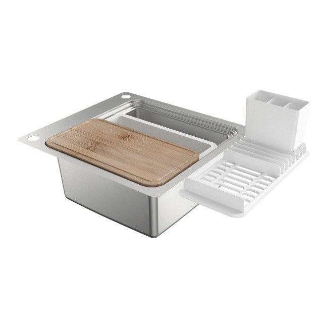 Zlewozmywak Stalowy Romesco 1 Komorowy Bez Ociekacza Z Akcesoriami Stalowe Dish Soap Soap