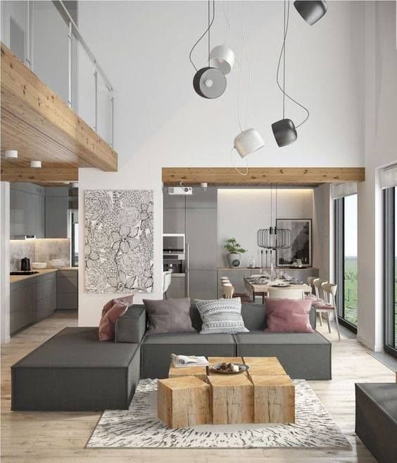 Via ig mix it up combine modern touches with rustic organic elements to help warm a cool modern palette of grays and neutrals