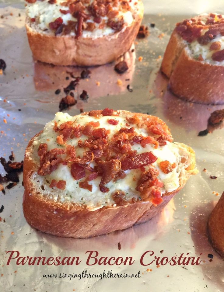 Parmesan Bacon Crostini -  This Father's Day, surprise the man in your life with a homemade, full course meal! Recipes sponsored by Tastefully Simple.