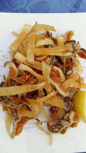 Fried moray eel at Risco restaurant in Famara, Lanzarote, Canary Islands #morenafrita #lanzarote #Famara