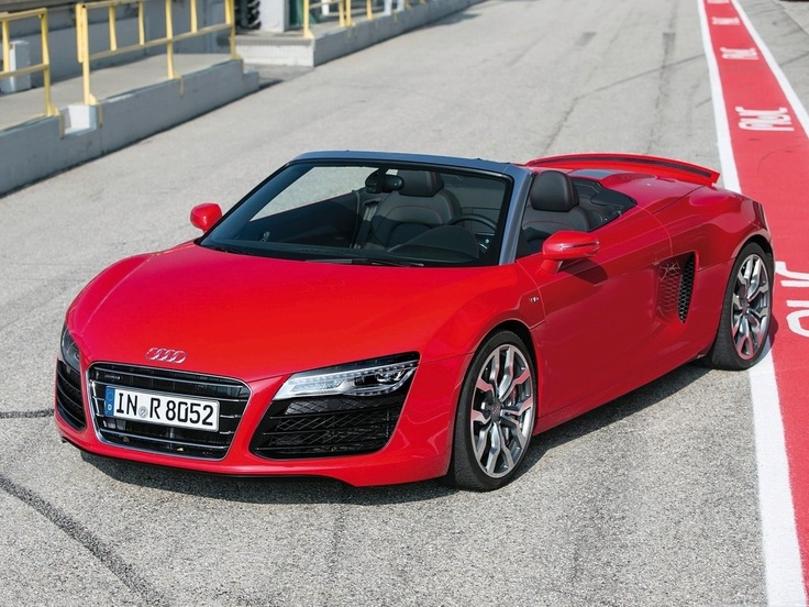 Having strengthened its place as one of the most sensational in handling and usability, the Audi R8 Spyder comes with a fabric and folding roof that brings excitement, while also allowing for the glorious noise of the engines when revved up.  Different from the coupe without the high performance, it comes with a 5.2 liter V10 or a 4.2 liter V8 engines. You can choose between the 7 – speed S tronic auto or the standard manual. With the S tronic.