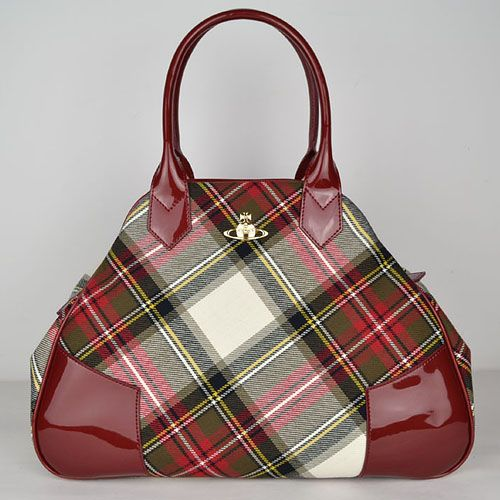 Vivienne Westwood tartan 'Yasmine' shaped bowling bag.