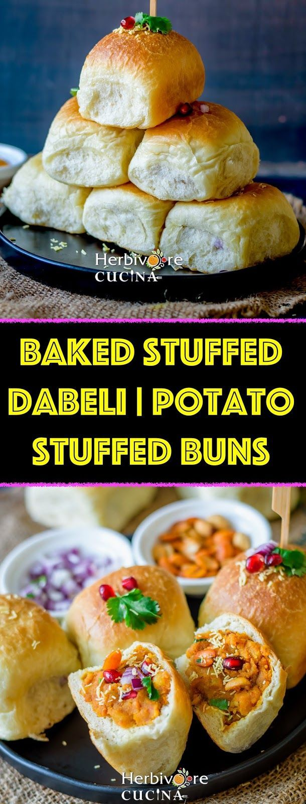 Baked Stuffed Dabeli Potato Stuffed Buns Dabeli Sweet And Spicy Recipes