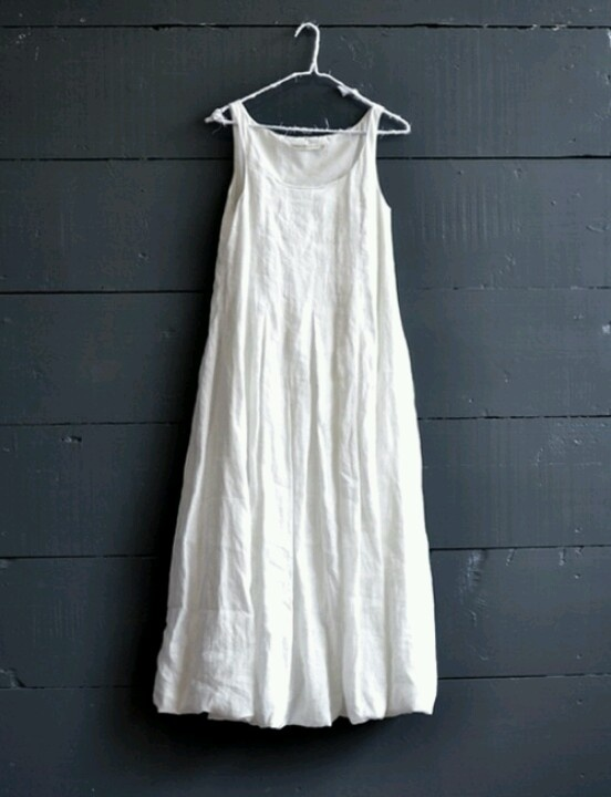 White linen dress...perfect for a summer afternoon /TBT                                                                                                                                                     More