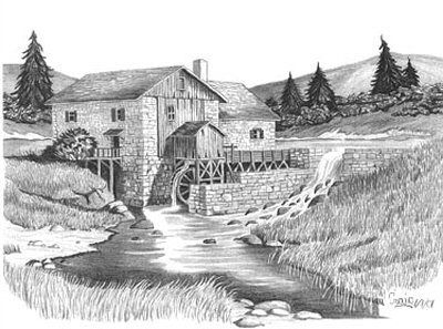 OnlineCoolGifts.com - Lumber Mill, $9.95 (http://www.onlinecoolgifts.com/pencil-sketches/rustic-pencil-sketches/country-life-sketches/lumber-mill/)