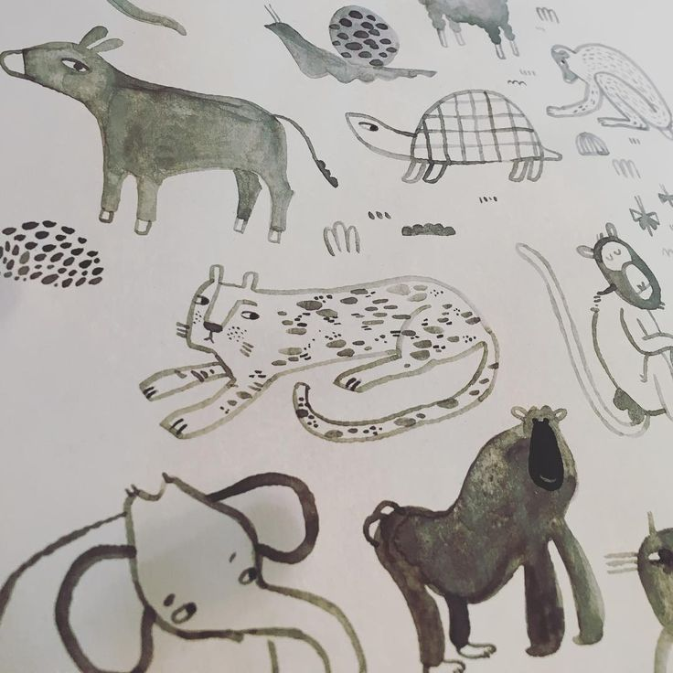 🐘 🦍 #illustration #mitliebegemacht #illustratorsoninstagram #illustrations #wildliving #wildlife
