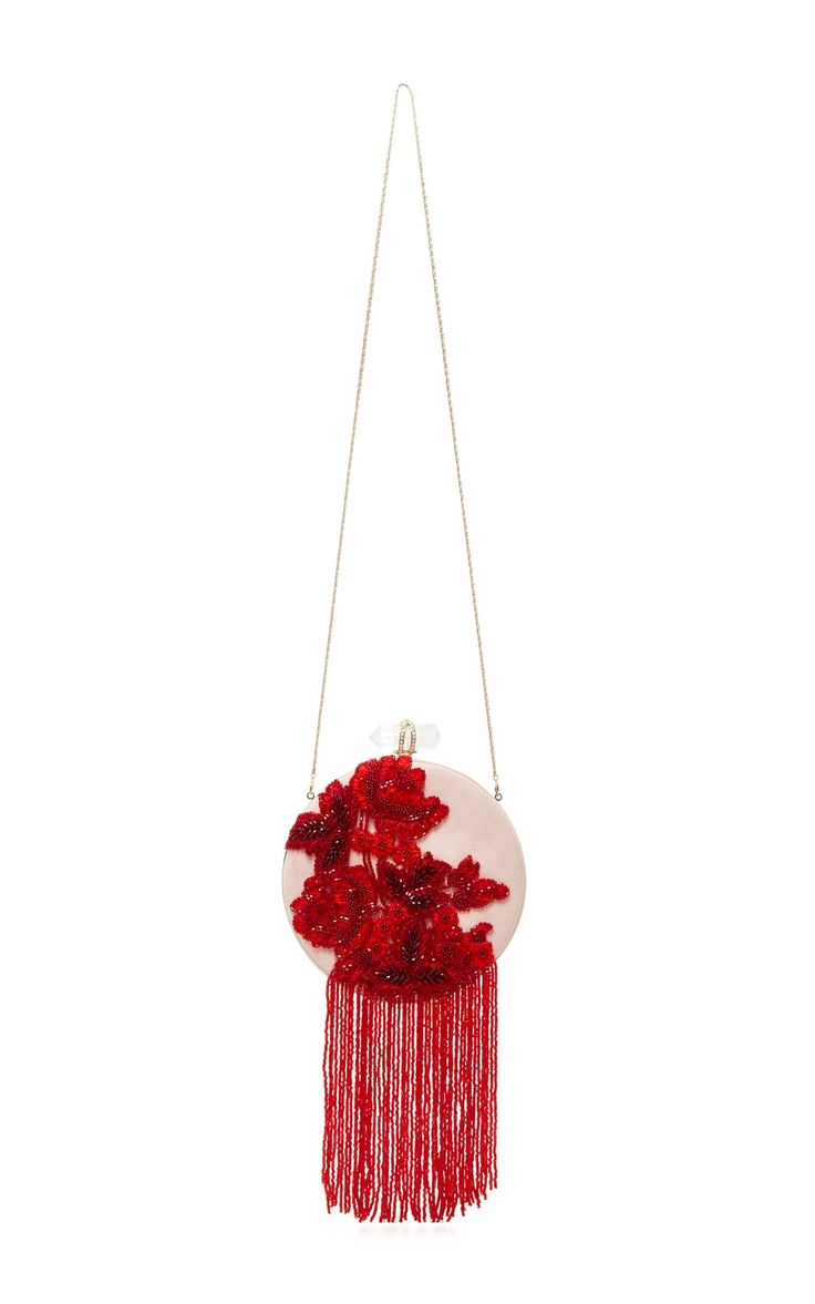 Lucy Fringe Evening Clutch by Marchesa