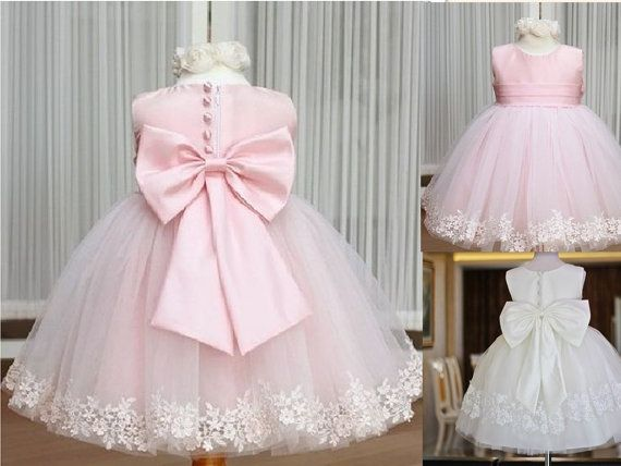 Lace Sleeves Flower Girl Dress Baby Girl Infant by hotdress, $59.99
