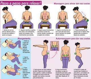Massagens relaxantes para a dor nas costas