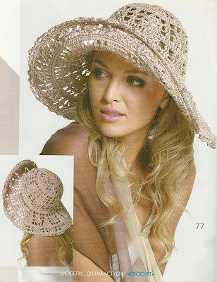 228 best gorros y sombreros images on Pinterest | Sombreros de ...