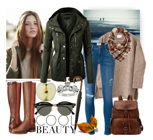 Walk along the coastline by tricialisha on Polyvore featuring polyvore, fashion, style, LE3NO, Frame Denim, Ariat, Carolina Glamour Collection, Charlotte Russe, Ray-Ban and clothing