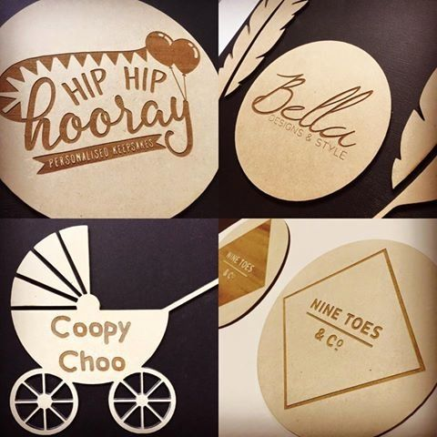Custom Engraved Disc - Your Logo or Wording and Image Timber Hanging Plaque or Flat Lay with or without hanging holes Sugar Boo - Bespoke Gift Collection