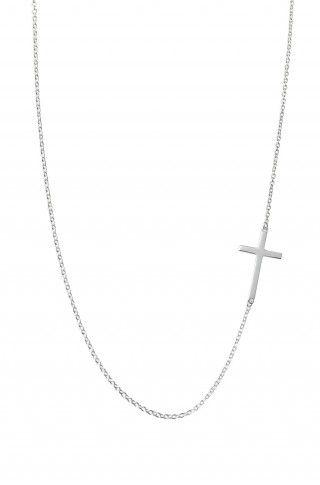 interlock cross necklace ~ sterling silver ~ stella & dot ~ $59 ~ a maya brannier collaboration style