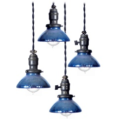 Collection Of Mini Blue Mercury Gl Pendents Chandelier Lightingpendant
