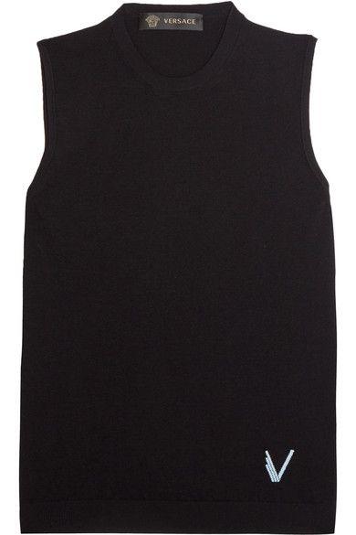 Versace - Stretch-knit Tank - Black - IT42