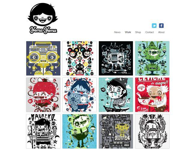 amazing online portfolios created with wix - Graphic Design Portfolio Ideas