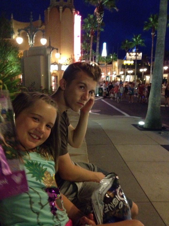 Me and my brother Luke in Disney ( he's 16 in the pic) now he is almost 18