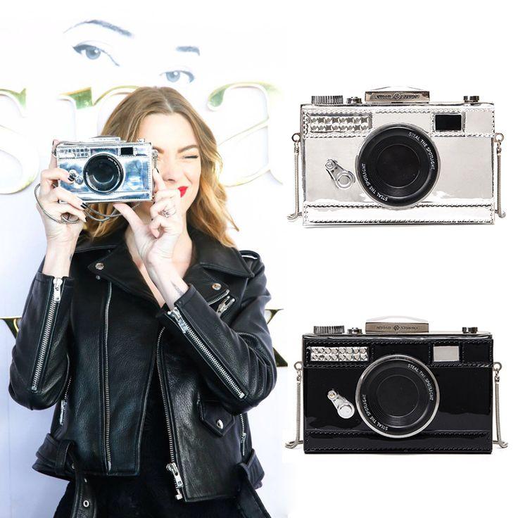 Bolsa Divertida Clutch Câmera Fotográfica Bolsos Carteras Mujer