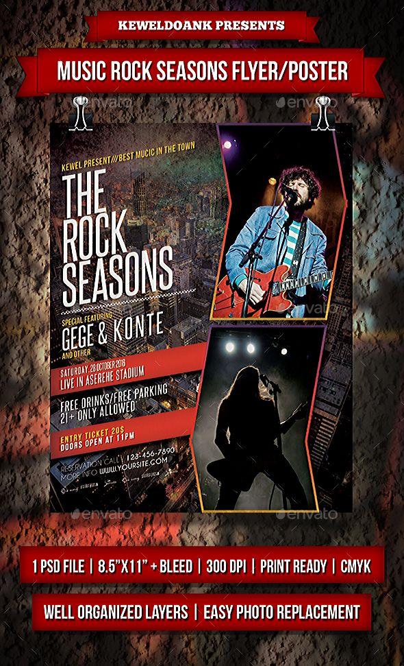 Music Rock Seasons Flyer / Poster