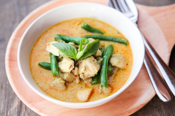 skinnymixer's Thai Red Chicken Curry - an aromatic healthy thermomix recipe with authentic flavours