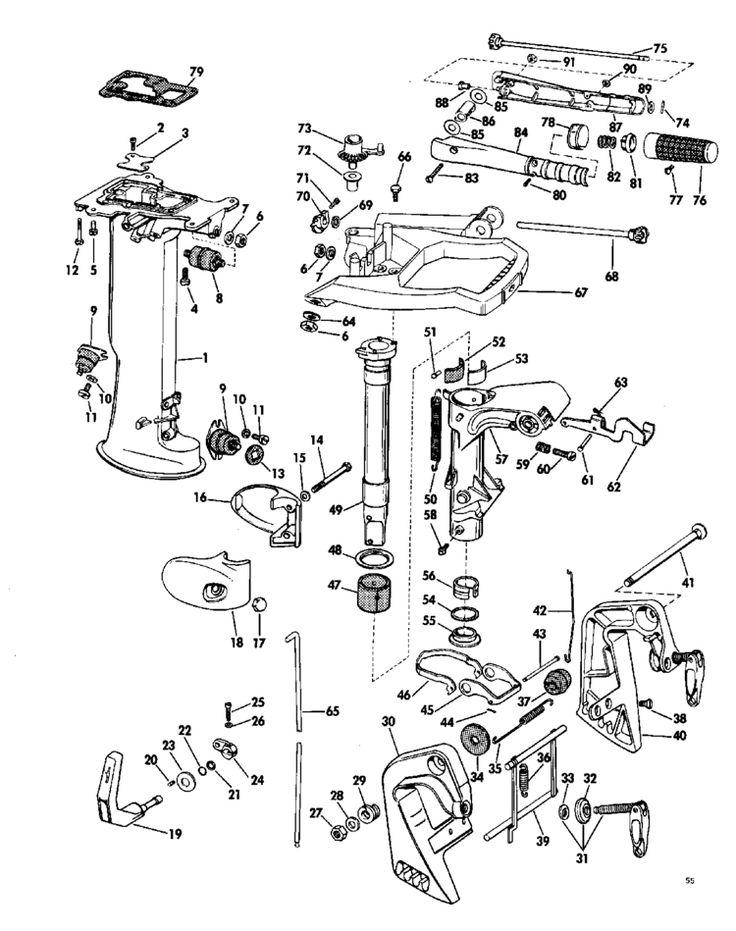 1967 mercury outboard parts diagram