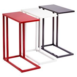 C-Table - for sofa side tables + bedside tables + laptop desk - very multi-use, takes up minimal room.
