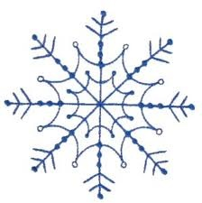 simple embroidered snowflake