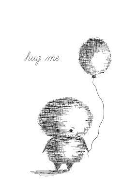 Plakat z serii 'HUG ME' | Motivella