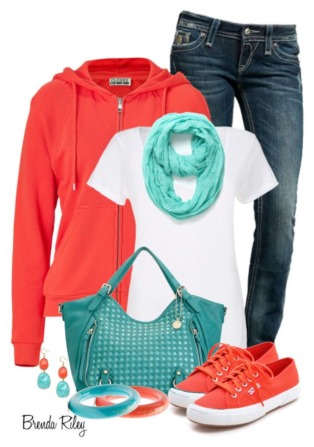 """""""Hoodie, Jeans & Sneakers"""" by brendariley-1 ❤ liked on Polyvore featuring Rock Revival, Closed, Big Buddha, Superga, With Love From CA, BaubleBar and MANGO"""