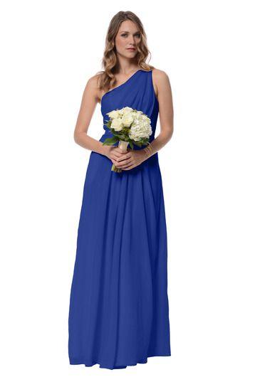 Dove & Dahlia Savannah Bridesmaid Dress in Cobalt Blue in Chiffon
