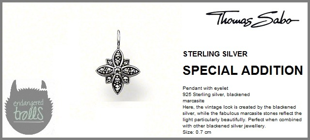 Thomas Sabo Fall 2012 - Special Additions - Marcasite Flower Pendant - Black