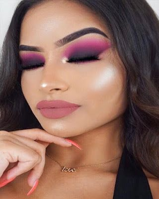 Makeup looks dramatic colorful trendy