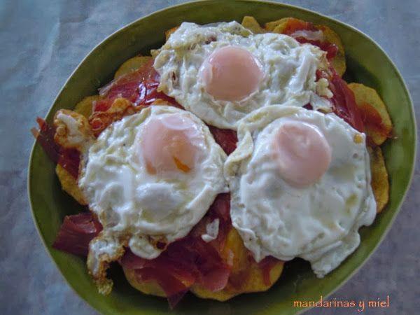 Huevos rotos con jamón   Cocinar en casa es facilisimo.com