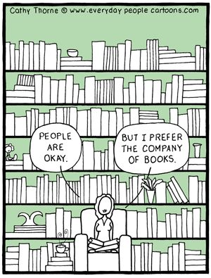 Reading Books Cartoon
