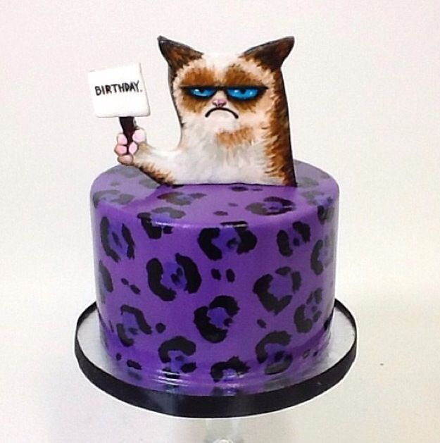 Grumpy Cat Cake Design Kustura for