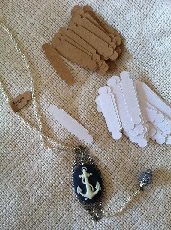 Jewelry Sticker Price Tags Kraft or White via Etsy