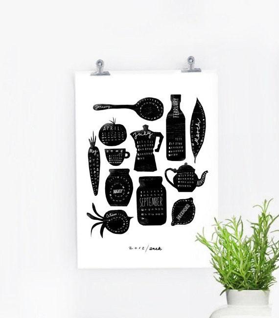 for the kitchen: Kitchens, Kitchen Art Prints, 2012 Calendar, Anek Calendar, Illustration, Kitchen Calendar, Photo, Design