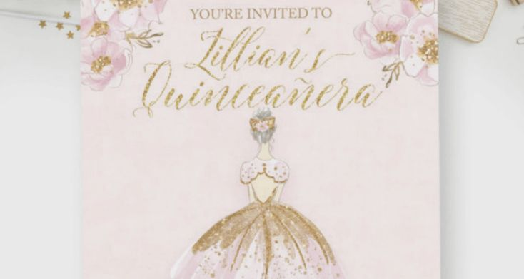 Do you dream of driving a pink car? Are sparkly things your favorite things? These Quinceanera invitations are just what you're looking for!