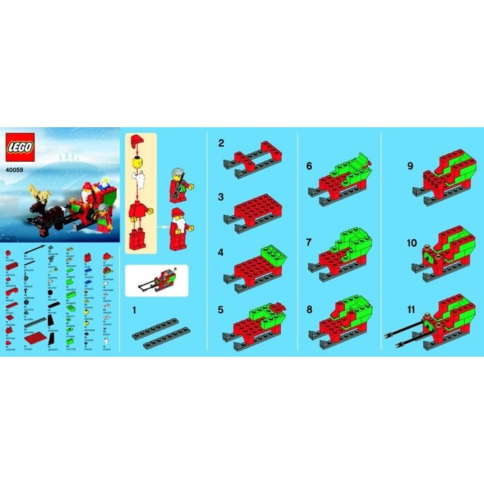 LEGO Santa Sleigh Set 40059 Instructions